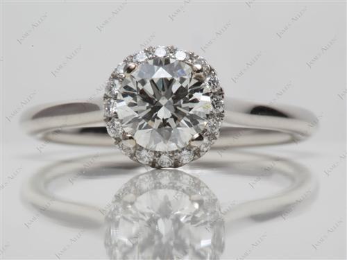 Platinum  Pave Engagement Rings