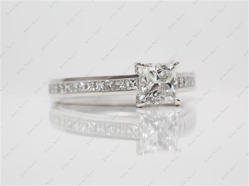 Platinum  Channel Engagement Rings