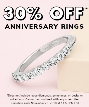 30% Off Anniversary Rings*
