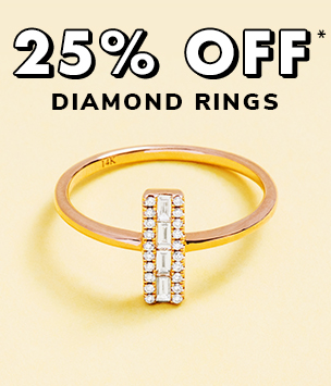 25% Off Diamond Rings*