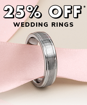 25% Off Men Wedding Rings*