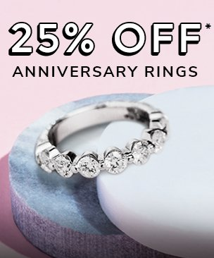25% off anniversary rings discount available. *Conditions apply.