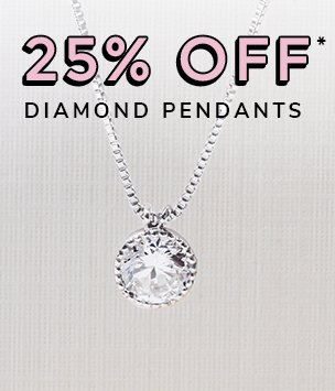 25% off diamond pednants discount available. *Conditions apply.