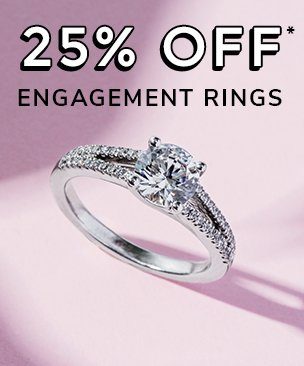 25% off engagement rings discount available. *Conditions apply.