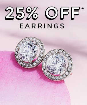 25% off diamond earings discount available. *Conditions apply.