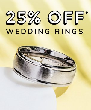 25% off men wedding rings discount available. *Conditions apply.