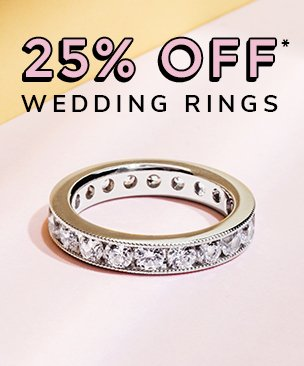 25% off women wedding rings discount available. *Conditions apply.