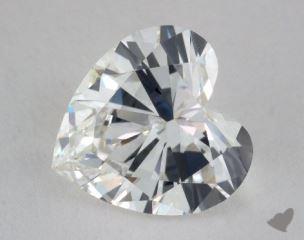 Heart 2.19, color G, VVS2  Very Good diamond