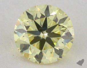 round 0.32 Carat  yellow SI1