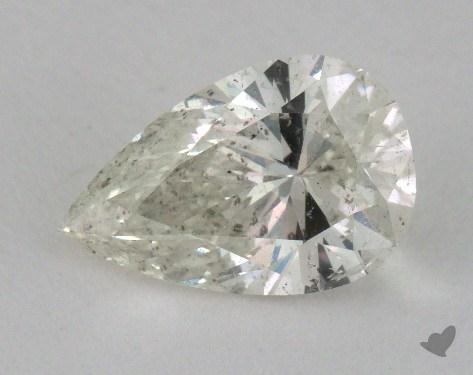 Pear 1.73, color K, I1  Very Good diamond