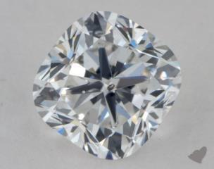 Cushion 1.21, color D, SI2  Ideal diamond