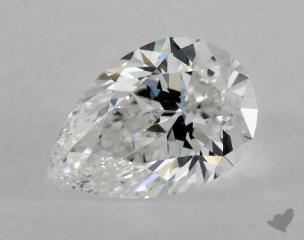 Pear 0.71, color E, IF  Very Good diamond