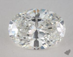 Oval 3.07, color E, VVS1  Very Good diamond