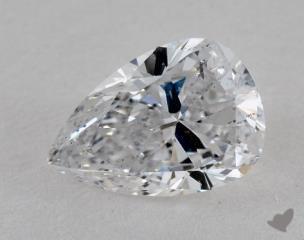Pear 1.46, color D, SI2  Very Good diamond