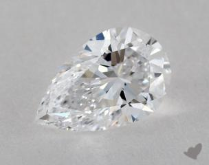 Pear 0.86, color D, IF  Very Good diamond