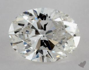 Oval 0.80, color G, VS1  Ideal diamond