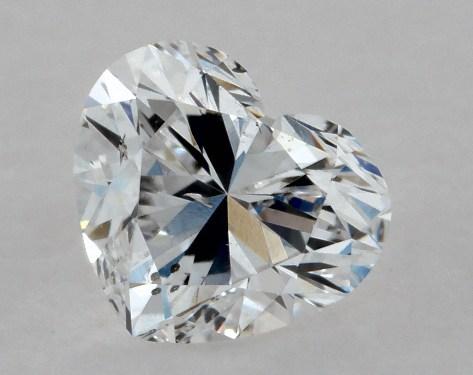 Heart 0.38, color D, SI1  Very Good diamond