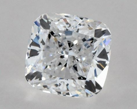 Cushion 0.73, color D, SI2  Ideal diamond