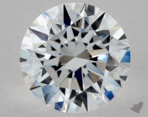 Round 1.04, color D, VS1  Excellent diamond