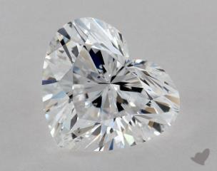 Heart 1.02, color D, SI1  Very Good diamond