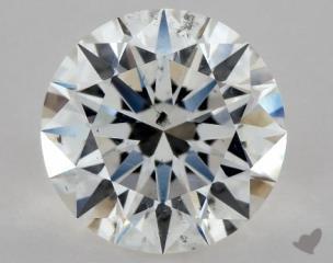 Round 1.09, color F, SI2  Excellent diamond