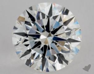 Round 1.03, color F, SI2  Excellent diamond
