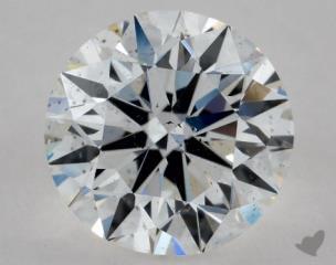 Round 0.90, color F, SI1  Excellent diamond