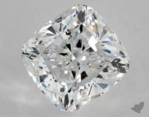 Cushion 0.91, color D, SI2  Ideal diamond