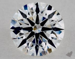 Round 1.05, color D, SI1  Ideal diamond