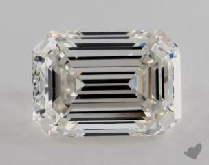 Emerald 2.51, color I, VVS2  Very Good diamond