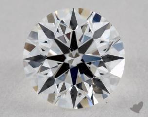 Round 0.82, color E, SI1  Ideal diamond
