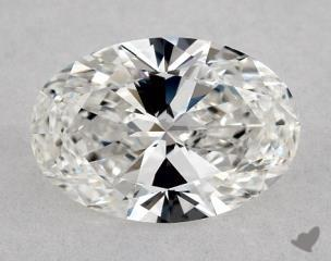 Oval 0.96, color F, IF  Very Good diamond
