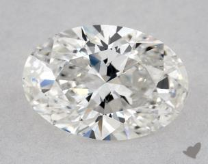 Oval 0.80, color F, IF  Very Good diamond