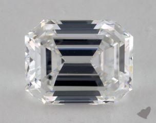 Emerald 3.03, color D, VVS2  Good diamond