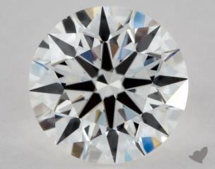 Round 1.03, color F, VS1  Ideal diamond