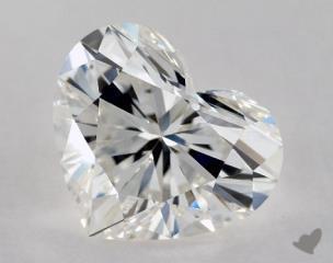 Heart 1.31, color H, VS1  Very Good diamond