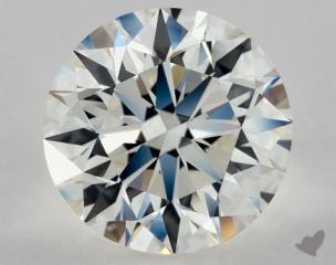 Round 3.60, color H, VVS2  Excellent diamond