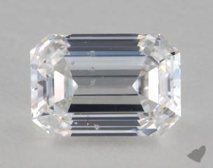 Emerald 2.60, color D, SI2  Very Good diamond