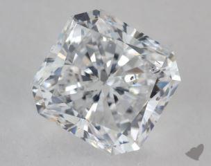 Radiant 2.03, color D, SI1  Very Good diamond