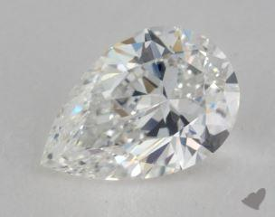 Pear 0.91, color D, VVS1  Very Good diamond
