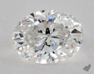 Oval 1.03, color E, VVS1  Very Good diamond