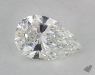 Pear 1.07, color G, VVS1  Very Good diamond