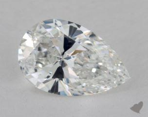 Pear 2.81, color E, VVS1  Very Good diamond