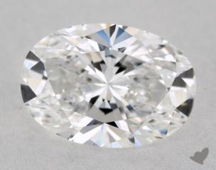 Oval 1.02, color E, VVS2  Very Good diamond