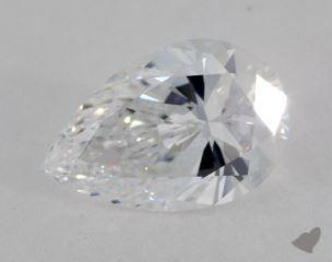 Pear 4.04, color D, VVS2  Very Good diamond