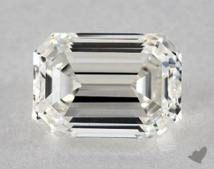 Emerald 1.34, color H, VVS2  Very Good diamond