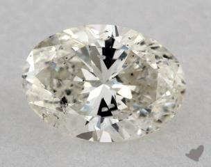 Oval 0.96, color I, SI2  Very Good diamond