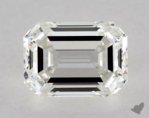 Emerald 0.97, color H, VVS2  Very Good diamond