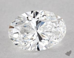 Oval 0.80, color D, VS1  Very Good diamond