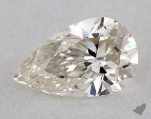 Pear 1.21, color J, VVS2  Very Good diamond